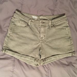 Light green midrise shorts